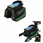 RockBros Bicycle Frame Bag Pannier Tube Bag Touchscreen Front Phone Holder Bag