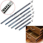 2 fold 240mm-450mm New High Quality Telescopic Metal Drawer Runners Slides Rail