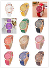 FL 1PC New Fashion Golden Leather Quartz DIY Bracelet Watch For Women