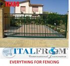 Sliding gate panel fencing railing galvanized wrought iron (Texas)
