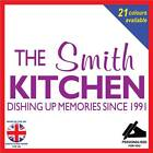 ?PERSONALISED? Kitchen Memories since DATE ~ Wall Art Decal Poster Sticker (093)