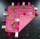 PINK / BLUE WINNIE THE POOH  BABY TAGGY BLANKET COMFORT COMFORTER