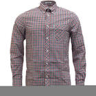 Ben Sherman Gingham camicia uomo manica lunga 'House Check' Smart Casual
