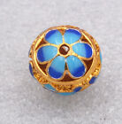 14mm cloisonne beads Buddhist lotus character Jewelry accessories gifts #6