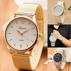 Geneva Fashion Casual Men's Women's Waterproof Stainless Steel Quarz Wrist Watch