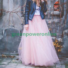 Free Size 6 Layers Women Maxi Wedding Skirt Party Long Tulle Skirt On Sale G