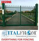 Double gates panel fencing railing galvanized wrought iron (Arizona)