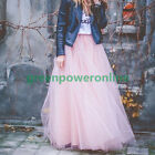 Free Size 6 Layers Women Maxi Wedding Skirt Party Long Tulle Skirt On Sale G CA