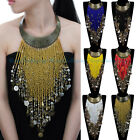Vintage Women Jewelry Pendant Resin Tassels Statement Choker Chunky Bib Necklace