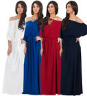 NEW Womens One Shoulder 3/4 Sleeve Cocktail Long Maxi Dress S M L XL 2X 3X 4X