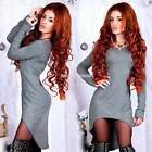 Women Sexy Bodycon Slim Party Cocktail Evening Irregular Mini Club Dress EN24H