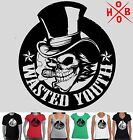 Funny T-Shirts Wasted Youth tee Top Singlet Size New Men's Ladies skull top hat