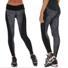 Damen Yoga Fitness Tights Elastic Sport Pant Trousers Running Gym Hose Freizeit
