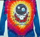 """GRATEFUL DEAD """"SPACE YOUR FACE"""" 2-SIDED LONG SLEEVE TIE DYE T-SHIRT NEW GARCIA"""