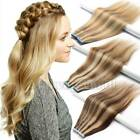 Tape in Grade 7A 100% Virgin Remy Human Hair Extensions 20/40pcs Skin Weft