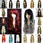 Beautiful Wavy Black Brown Blonde Red Blue Long Ladies Wigs Skin Top WIWIGS UK