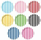 "STRIPES 8 Round Paper PLATES {7""/18cm} Striped (Decoration/Birthday/Party)Spots"