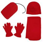3pc Hat Gloves Scarf Set Fleece Women's Winter Set Ladies Soft Warm Fine image