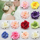 Bridal Rose Flower Hairpin Brooch Wedding Bridesmaid Accessories Hair Clip JR