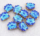 18x15x6mm cloisonne beads of water Lotus Jewelry accessories gifts #46