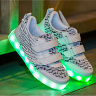 Kids Boys Girls USB Charging LED Light Up Luminous shoes Wing Sneakers