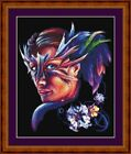 MASKED LADY -14 COUNT CROSS STITCH CHART PDF/PRINTED  FREE PP WORLDWIDE