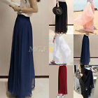 Womens Wide Leg Chiffon High Waist Casual Pants Long Loose Culottes Trousers