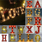 12'' LED Marquee Letter Lights Vintage Circus Style Alphabet Light Up Sign Decor