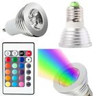 GU10 E27 MR16 3W RGB LED Bulb Remote Control 16 Color Changing Dimmable Light
