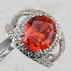 Size 7 8 9 Wonderful Nice Garnet Red Jewelry Gold Filled Women Gift Ring K2352