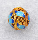 14x14mm cloisonne beads Buddhist amulets leaves Jewelry accessories gifts #51
