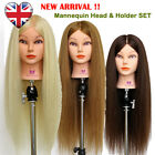 "UK 28"" 90% Long Real Hair Hairdressing Training Head Hairdressing Mannequin Doll"