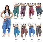 Pants PRP1-8 Cotton Tribal Hill Tribe Hmong Gypsy Harem Genie Aladdin Women Men
