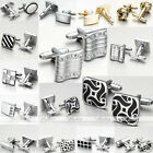 Classic 3 Colors (Silver Gold Black) Steel Leisure Shirt Cufflinks Men's Jewelry