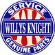 Reproduction Willys Knight Service Genuine Parts Sign 14 Round