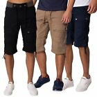 Rawcraft Mens Twill Combat Cotton Mid Length Shorts Cargo Combat Pocket Pants