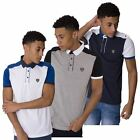 RAWCRAFT DESIGNER DERRY NEW MENS SHORT SLEEVE COLLARED POLO SHIRT TOP