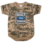 Built Ford Tough baby tee shirt infant one piece body suit army digital camo
