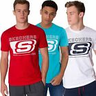 SKECHERS MENS GRAPHIC PRINTED SHORT SLEEVE CREW NECK T SHIRT TOP SPORTS TEE