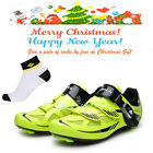 2016 Men's Road Cycling Lock-slip Shoes Bicycle Bike PU SPD Shoes New S12019V