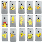 Original Pokemon Go Pikachu Cartoon Hard Cover Case For iPhone 5S SE 6 6s Plus