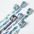 1 Pc Various Flower Pattern Washi Tape Paper Sticky Adhesive Sticker Paper Decor