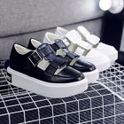 Chic Summer Cut Out Sneaker Shoes Buckle Flats Slip On Platform Footwear