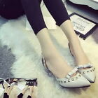 Chic Women Bowknit Rivet Stilettos Sandals Slim Heels Pumps Pointy Toe Shoes