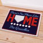 Personalized No Place Like Home Doormat Baseball Home Base Family Name Doormat