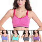 FL Women Sports Bra Tank Top Vest Wirefree Padded Quick-Dry Racerback Seamless