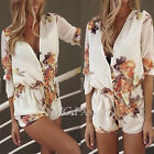 Women Ladies Summer Celeb Romper Party Evening Floral Dress Shorts Jumpsuit