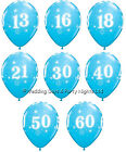 25 Robins Egg Blue Helium or Air Balloons Happy Birthday Party Decorations 11""