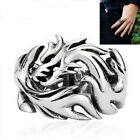 1 Pc Biker Men's Ring Dragon Pattern Stainless Steel Cool Gothic Dragon Claw