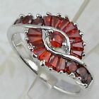 Size 6 7 8 Gorgeous Garnet Red Stone Jewelry Gold Filled Woman Gift Ring K668